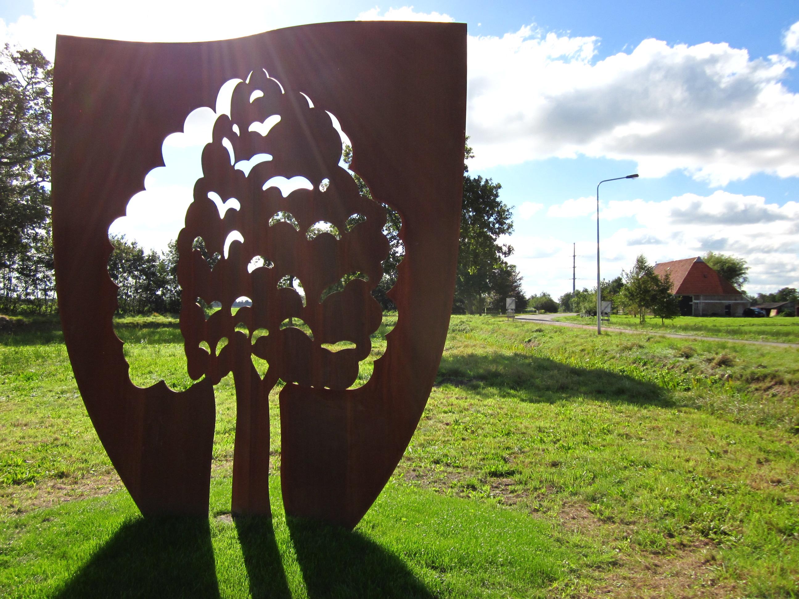 De boom cortenstaal beeld openbare ruimte wietske lycklama nijeholt - Deksel van de boom ...