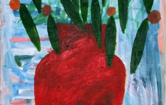 Bloemen schilderij, hedendaagse schilderkunst, kunstenaar Wietske Lycklama à Nijeholt