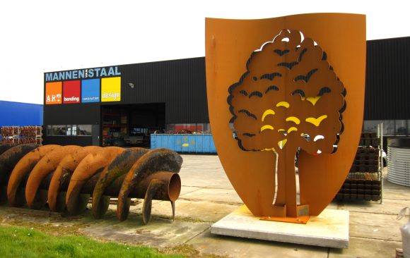 Cortenstaal beeld, Kunstwerk De Boom van Langezwaag, kunstenaar Wietske Lycklama à Nijeholt