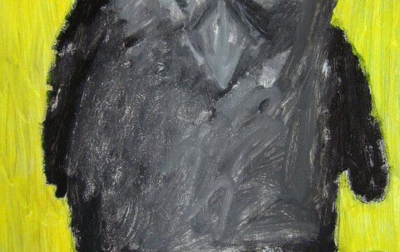 Au kauw, kunstschilderij dieren, Vogels huilen niet, hedendaagse schilderkunst, kunstenaar Wietske Lycklama à Nijeholt