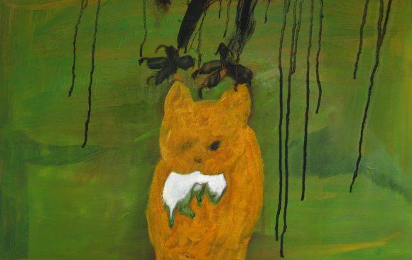 Buit, kunstschilderij dieren, hedendaagse schilderkunst, kunstenaar Wietske Lycklama à Nijeholt
