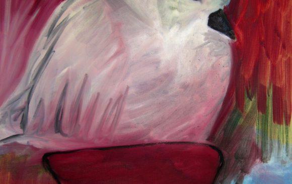 Duif, kunstschilderij dieren, Vogels huilen niet, hedendaagse schilderkunst, kunstenaar Wietske Lycklama à Nijeholt
