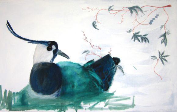 Kievit, kunstschilderij dieren, hedendaagse schilderkunst, kunstenaar Wietske Lycklama à Nijeholt