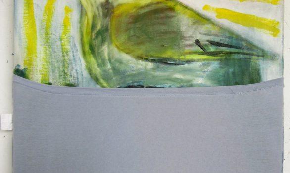 Koperwiek met geheim, kunstschilderij dieren, Vogels huilen niet, hedendaagse schilderkunst, kunstenaar Wietske Lycklama à Nijeholt