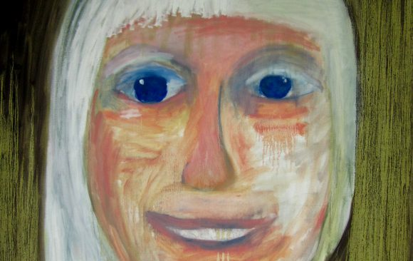 Selfie, zelfportret, hedendaagse schilderkunst, kunstenaar Wietske Lycklama à Nijeholt