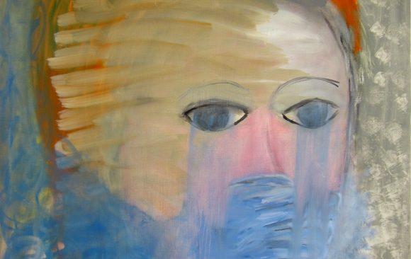 Try to say, Zelfportret, hedendaagse schilderkunst, kunstenaar Wietske Lycklama à Nijeholt