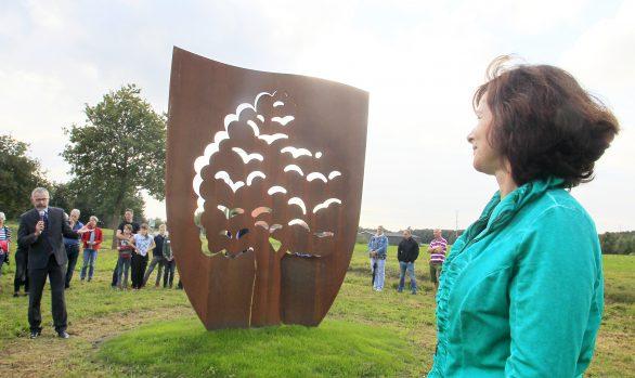 Cortenstaal kunstwerk, kunstenaar Wietske Lycklama à Nijeholt, foto: Sietse de Boer