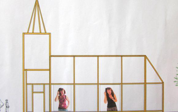 Haren-in-de-wind-fotoshoot, openlucht installatie en expositie, Under de toer, LF2018, kunstenaar Wietske Lycklama à Nijeholt