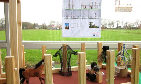 maquette-haren-in-de-wind, installatiekunst, openlucht installatie en expositie, Under de toer, LF2018, kunstenaar Wietske Lycklama à Nijeholt