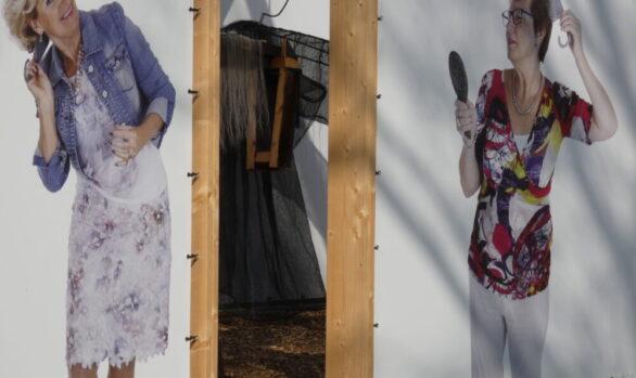 Film Sa! Feestelijke opening-Haren-in-de-Wind-vrijdag-13-april, met de burgemeester, replicakerk, kunstinstallatie-begraafplaats-Langezwaag, Under-de-Toer -LF2018, beeldende-kunst-lf2018, kunstenaar-Wietske-Lycklama-à-Nijeholt