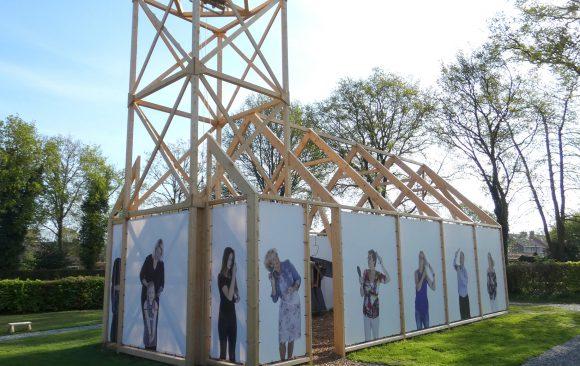 Replicakerk-Haren-in-de-Wind-april-LF2018-kerk, kunstinstallatie-begraafplaats-Langezwaag, Under-de-Toer -LF2018, beeldende-kunst-lf2018, kunstenaar-Wietske-Lycklama-à-Nijeholt