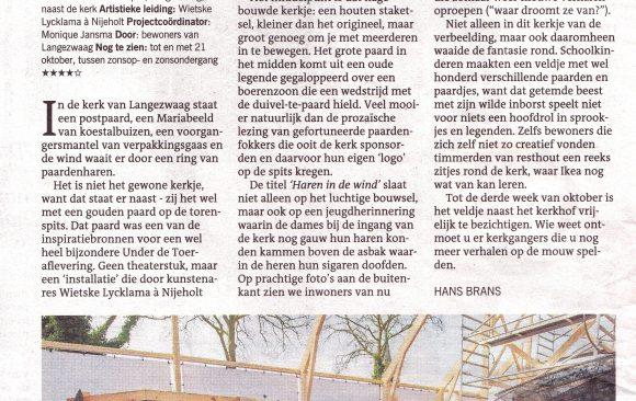 LC-Haren-in-de-Wind, recensie-met-vier-sterren-****, kunstinstallatie in de open lucht, begraafplaats, kunstenaar Wietske Lycklama à Nijeholt
