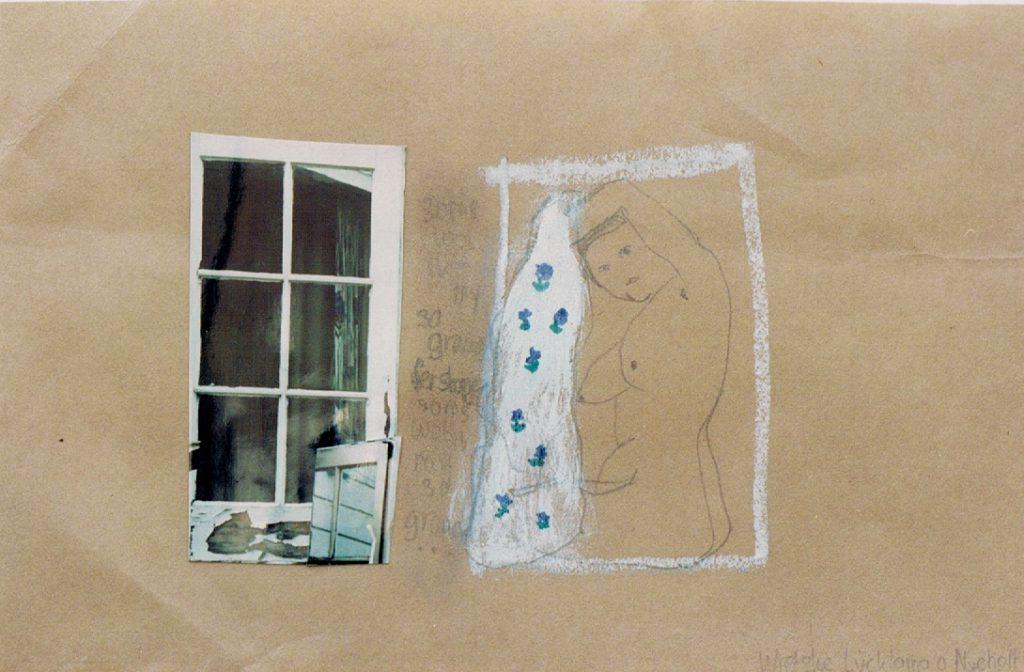 Balkontekening, Zelfportret, hedendaagse kunst, kunstenaar Wietske Lycklama à Nijeholt
