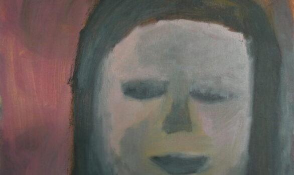 Droommeisje, zelfportret, hedendaagse schilderkunst, kunstenaar Wietske Lycklama à Nijeholt