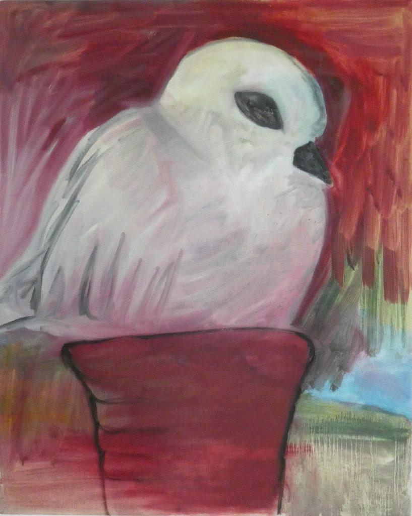 Duifje, Wietske Lycklama à Nijeholt, kunstschilderij dieren, Vogels huilen niet, hedendaagse schilderkunst,