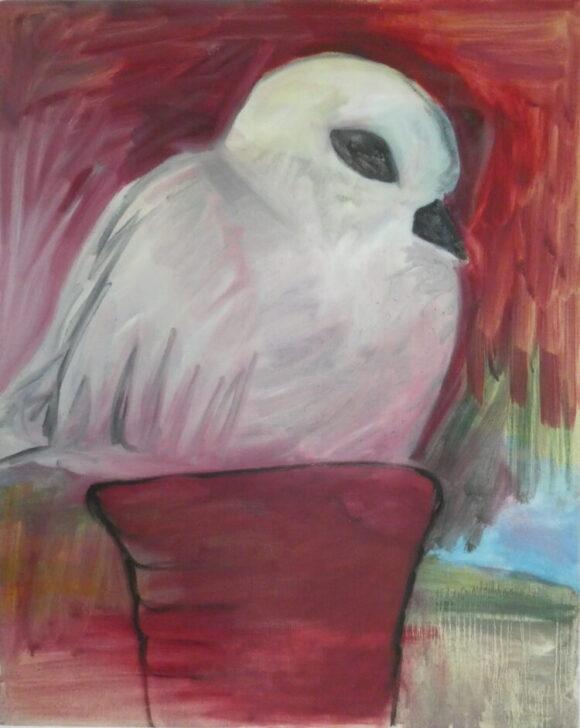 Duifje, pigeon, Wietske Lycklama à Nijeholt, kunstschilderij dieren, Vogels huilen niet, hedendaagse schilderkunst,