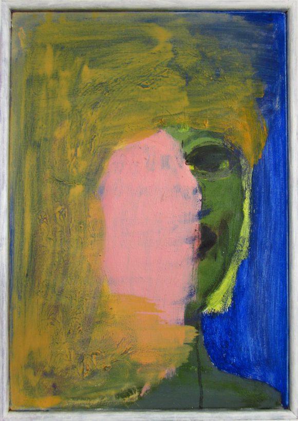 Klap, zelfportret, hedendaagse schilderkunst, kunstenaar Wietske Lycklama à Nijeholt