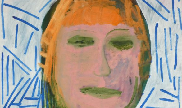 Slecht nieuws, Zelfportret, hedendaagse schilderkunst, kunstenaar Wietske Lycklama à Nijeholt