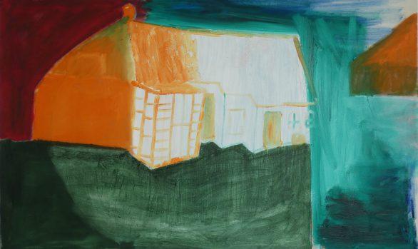 Boerderij-met-serre, Landelijke kunst, hedendaagse schilderkunst, kunstenaars, Wietske Lycklama à Nijeholt
