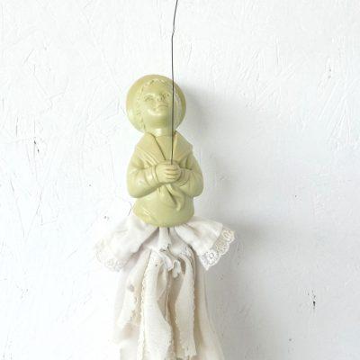 Armoedig geloof kunstobject, ruimtelijk werk, textielkunst, textiel art, artwork, dutchartist, kunstenaar Wietske Lycklama à Nijeholt