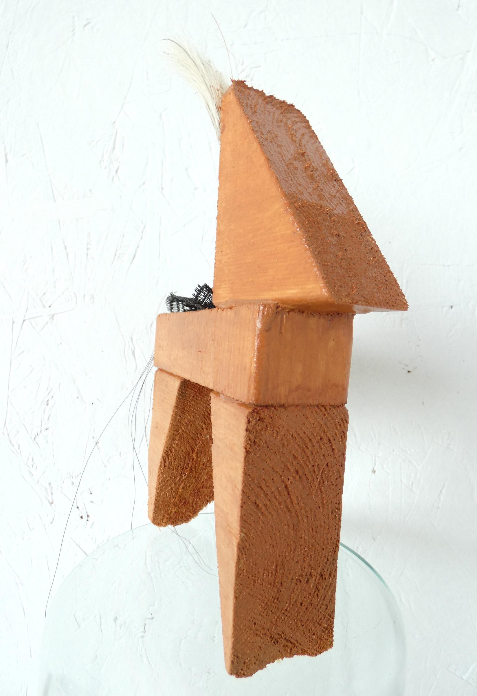 IJslander paardje, icelandic horse, paardenhaar, artwork, kunst, art, artlovers, hout, kunst kopen, artcollectors, sculpture, art at home, kunstenaar Wietske Lycklama à Nijeholt