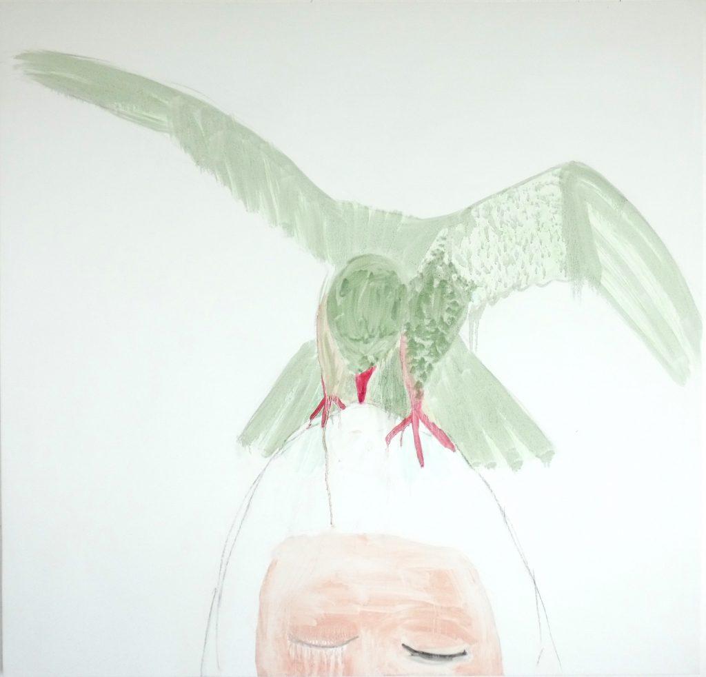 Aanval, attack, olieverfschilderij, figurative art, oilpainting, contemporary painting, hedendaagse schilderkunst, dutch artist, Wietske Lycklama à Nijeholt