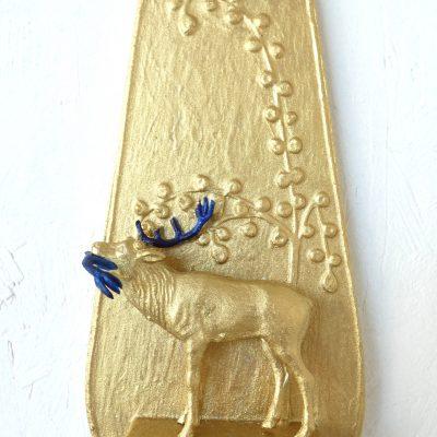Afterparty, kunst aan de muur, kunstobject, goud, art, artwork, kunst voor in huis, art at home, dutch artist Wietske Lycklama à Nijeholt