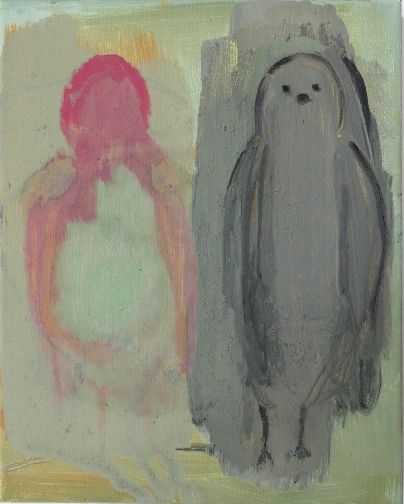 Geldingsdrang, olieverfschilderij, figuratief schilderij, hedendaagse schilderkunst, kunstenaar Wietske Lycklama à Nijeholt