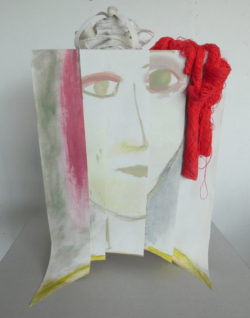 Jonkvrouw Doorn, kunstbeeld textiel, textielkunst, hedendaagse kunst, Wietske Lycklama à Nijeholt