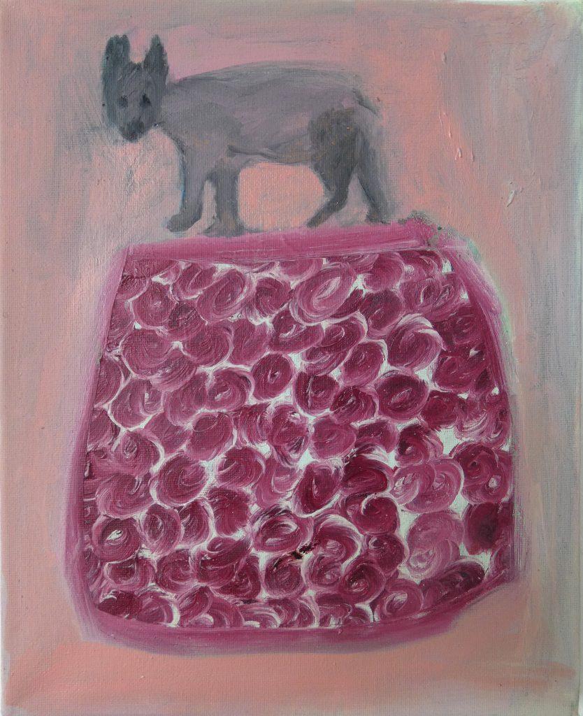 Kijk uit!, olieverfschilderij, dieren kunst, dieren schilderij, hedendaagse schilderkunst, kunstenaar Wietske Lycklama à Nijeholt
