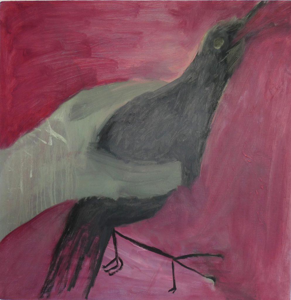 Macht van de sterkste, kunstschilderij dieren, figuratief schilderij, olieverfschilderij, hedendaagse schilderkunst, kunstenaar Wietske Lycklama à Nijeholt