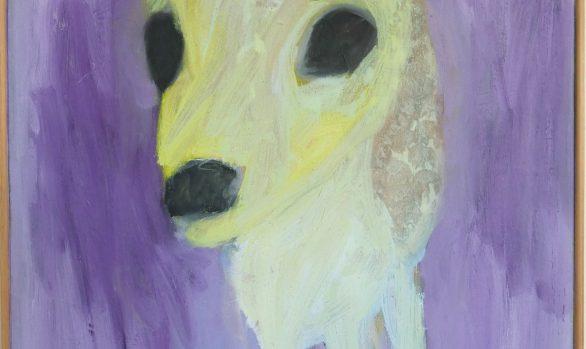 Ree olieverfschilderij, dieren kunst, schilderij dieren, deer, schilderenopdoek, kleurrijk olieverfschilderij, hedendaagse schilderkunst, kunstenaar Wietske Lycklama à Nijeholt