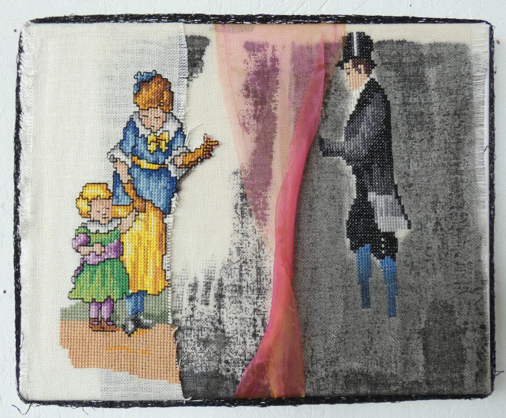 Koningsdrama, royal drama, borduurwerk, embroidery, textiel, textielkunst, hedendaagse kunst, Wietske Lycklama à Nijeholt