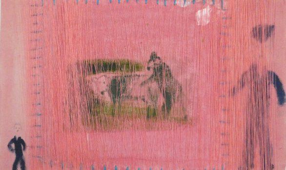 Op de boerderij, on the farm, textiel, textielkunst, hedendaagse kunst, Wietske Lycklama à Nijeholt