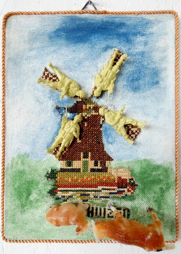 Toen Duitsland Nederland binnenviel, art, textielkunst, textiel art, mixed media, figuratief, hedendaagse kunst, kunstenaar Wietske Lycklama à Nijeholt