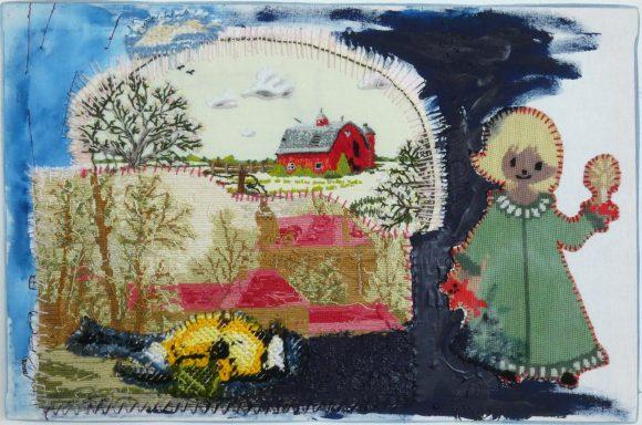 Wel te rusten, borduurwerk, embroidery, textiel, textielkunst, hedendaagse kunst, Wietske Lycklama à Nijeholt