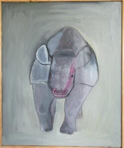 Lobbes, groot olieverfschilderij, oilpainting, artwork, dutch art, figurative art, modern art, hedendaagse kunst, dutch artist Wietske Lycklama à Nijeholt